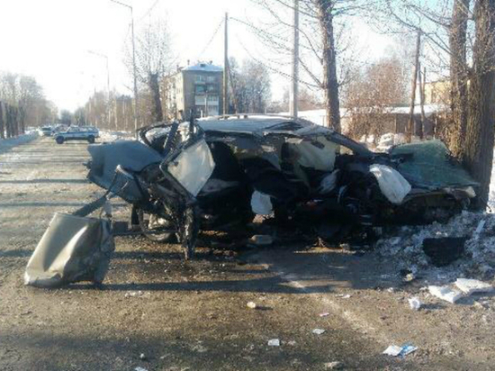 Шофёр иномарки врезался вдерево ипогубил своего пассажира вНижнем Тагиле