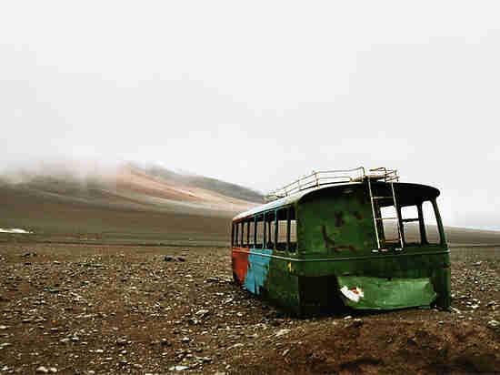 Между Екатеринбургом и Тюменью сгорел автобус